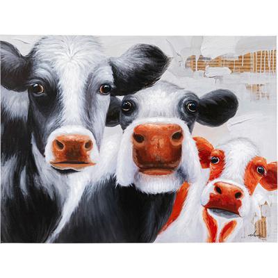 Cuadro  Snoopy Cows 120x90cm