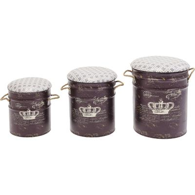 Taburete Storage Royal (3/set)
