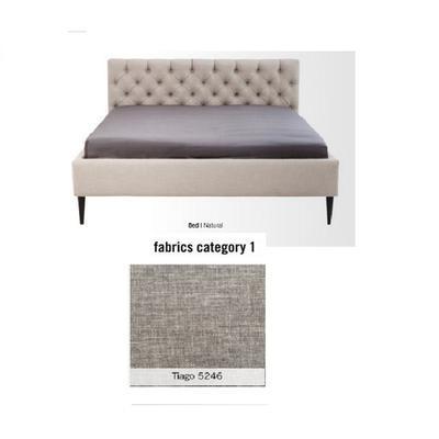 Cama Nova, tela 1 - Tiago   5246,   (85x180x215cms), 160x200cm (no incluye colchón)