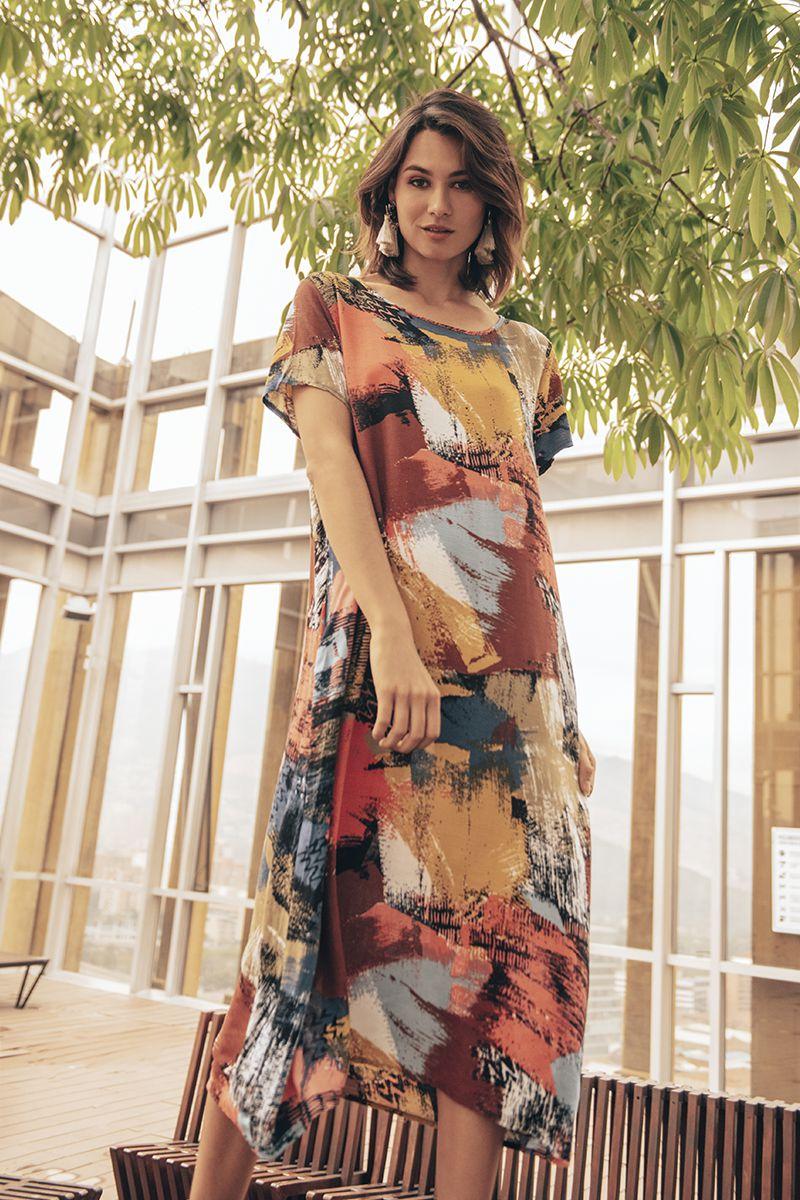 ed5550772 MAXI VESTIDO ESTAMPADO - Spírito Tienda online - Moda femenina