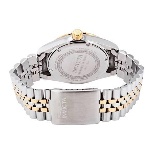 Reloj quartz plata-acero dorado 9378