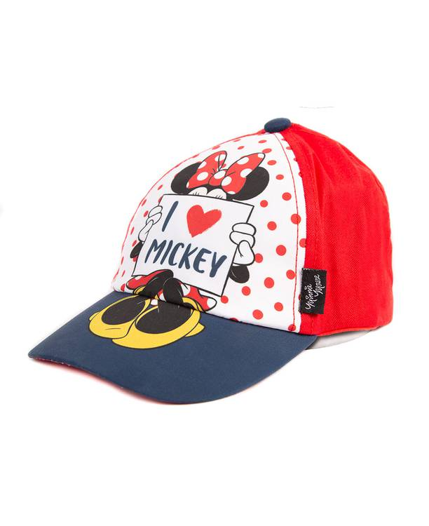 Gorra Niña Roja Minnie Mouse