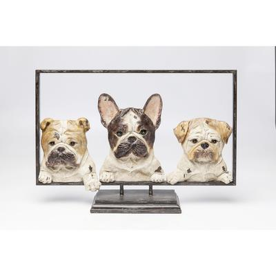 Objeto decorativo Dogs with Frame 63cm