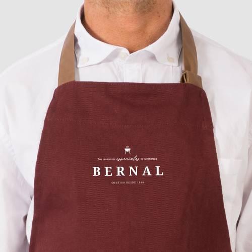 Delantal Color Siete Bernal - Vino Tinto