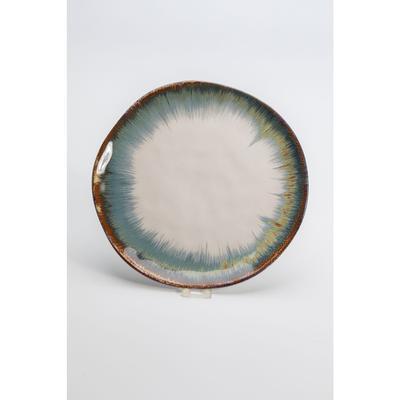 Plato Organic blanco/azul  Ø26cm