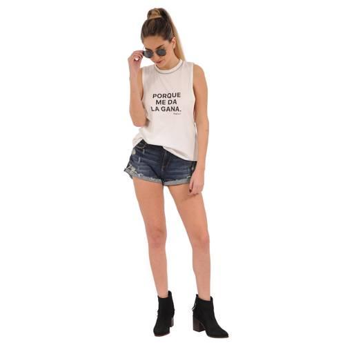 Camiseta Maya Rosé Pistol para Mujer  - Blanco