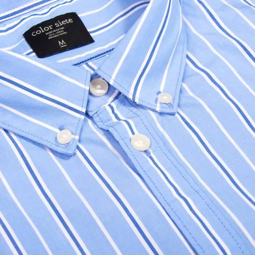 Camisa Murray Manga Larga - Azul