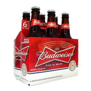 Cerveza Budweiser Botella Sixpack 315ml