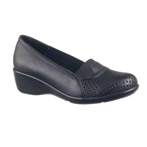 Zapato Confort Para Mujer En Cuero Negro