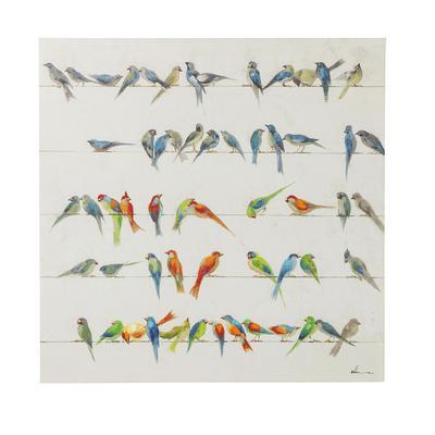 Cuadro Birds Meeting 100x10