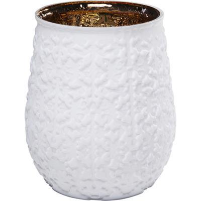 Vasija Precious Ornament blanco 19cm