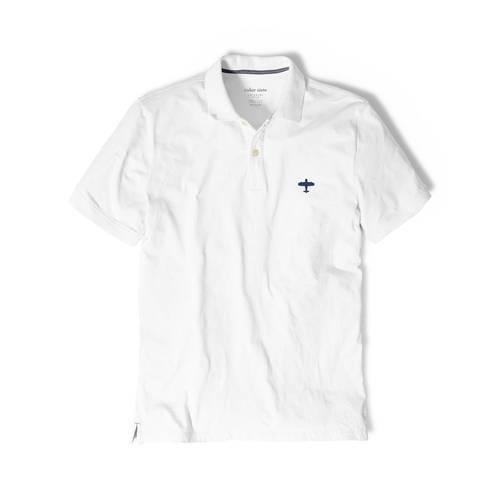 Polo Color Siete Para Hombre Blanco - Balanza