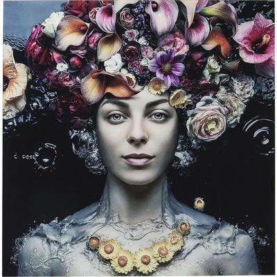 Cuadro cristal Flower Art Lady 120x120cm