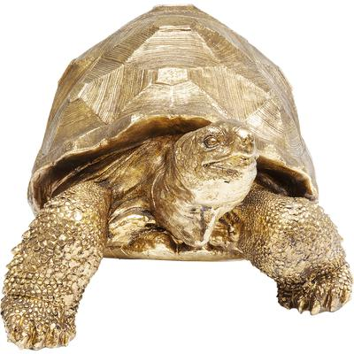 Figura decorativa Turtle oro mediano