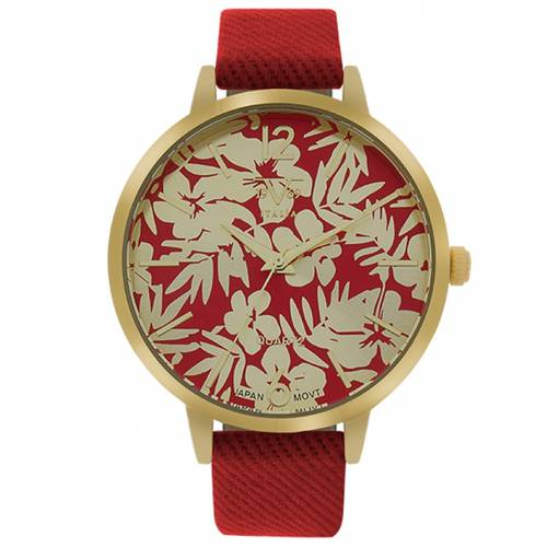 Reloj Dorado/Rojo - V1969_104-3