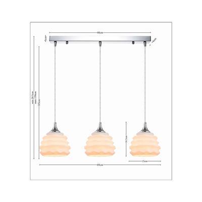Lámpara Ruffle Dining blanco