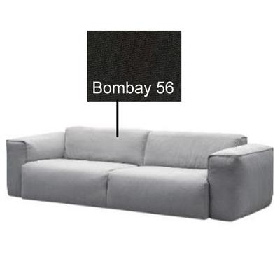 Sofa Hudson, 3-Seater, TELA: Bobmbay 56 (light black)
