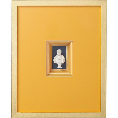 Cuadro Ancient Bust naranja 3 - 50x40cm