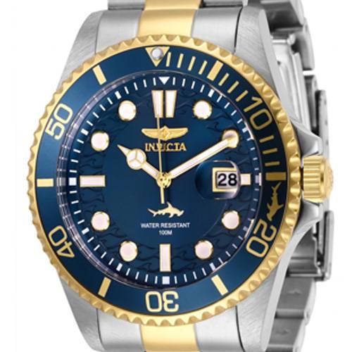 Reloj quartz azul-acero dorado 0021