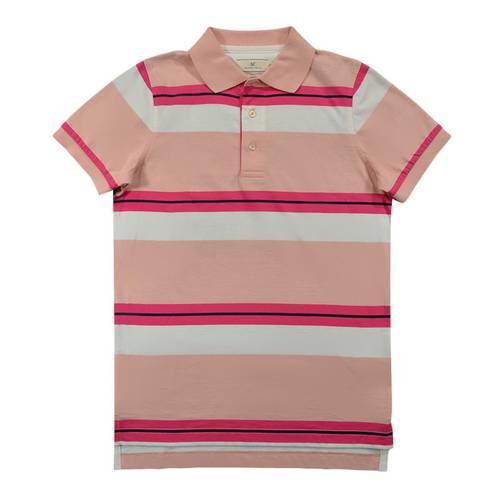 Camiseta Polo Nal Rayas Jersey 540-35 Rosado