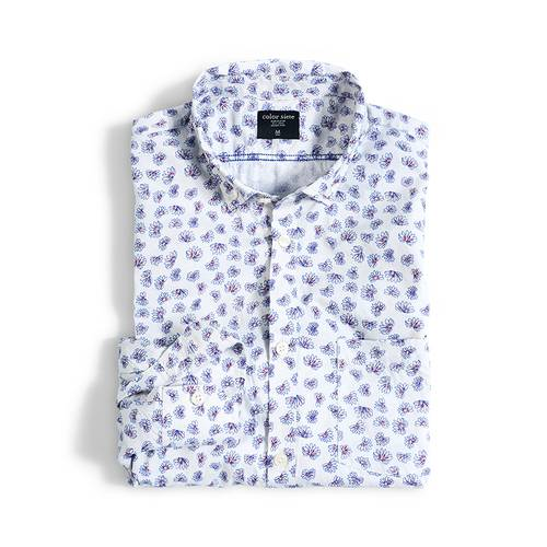 Camisa Manga Larga Jones Color Siete para Hombre - Blanco
