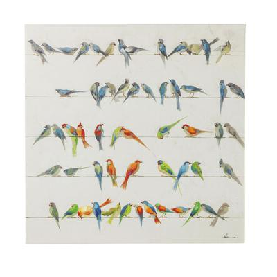 Cuadro Birds Meeting 100x100 cm