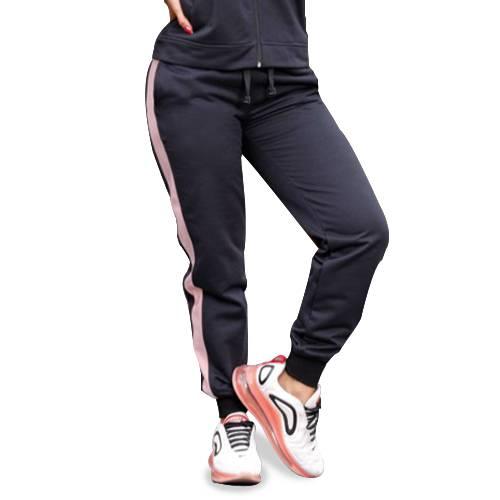 Pantalón Deportivo Línea Rosa Negro - Rosado Oscuro