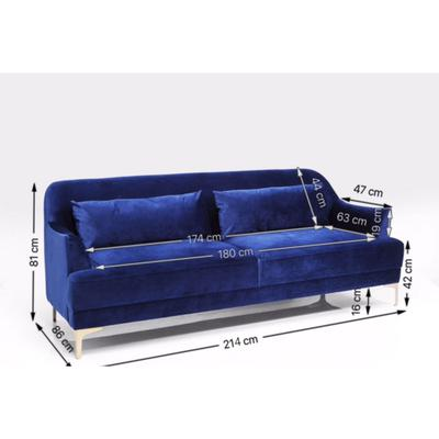 Sofá Proud azul 3 pl
