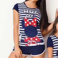 Pijama Conj / Short / Mc Azul