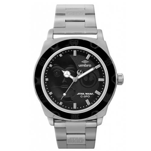Reloj Análogo Plateado-Plateado Umb-Sw04-1