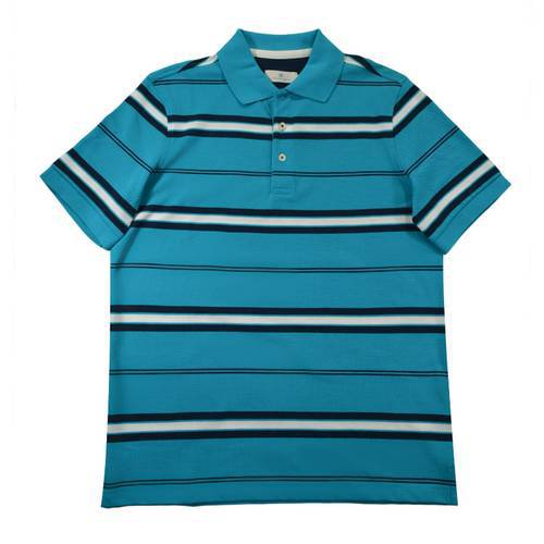 Camiseta Polo Nal Rayas Pique 740-09 Azul