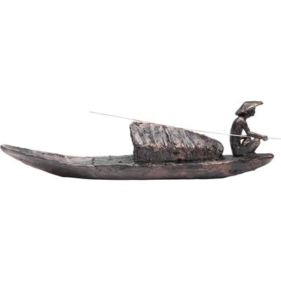 Objeto decorativo Fisherman Boat
