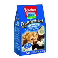Galleta Quadratini Crema De Coconut 125g