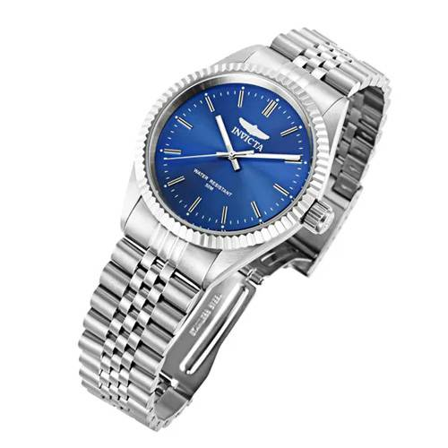 Reloj quartz azul-acero 9375