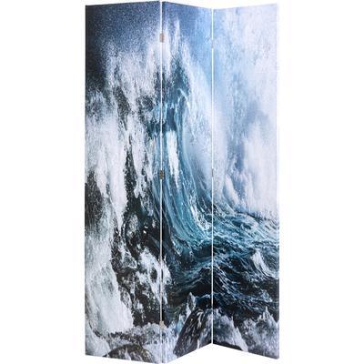 Biombo Triptychon Wave vs Palms 120x180cm