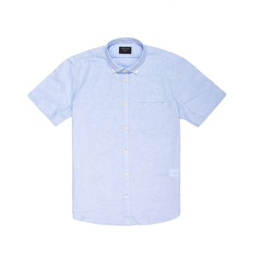 Camisa Leroy Manga Corta Color - Azul