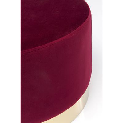 Taburete Cherry Bordeaux latón Ø55cm
