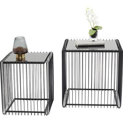 Mesa auxiliar Wire Square negro (2/Set) 45x45cm