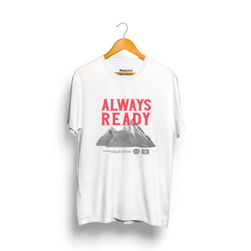 Camiseta Always Ready Rosé Pistol Unisex - Blanco