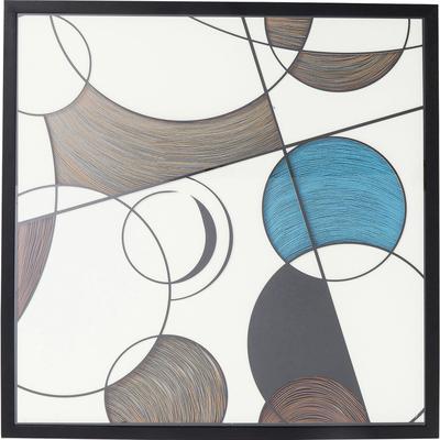 Cuadro Wall Art Circles 90x90cm