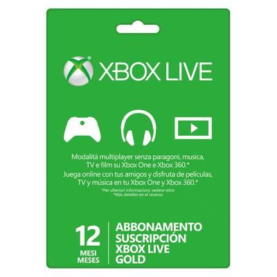 Xbox Live 12 Meses Gold