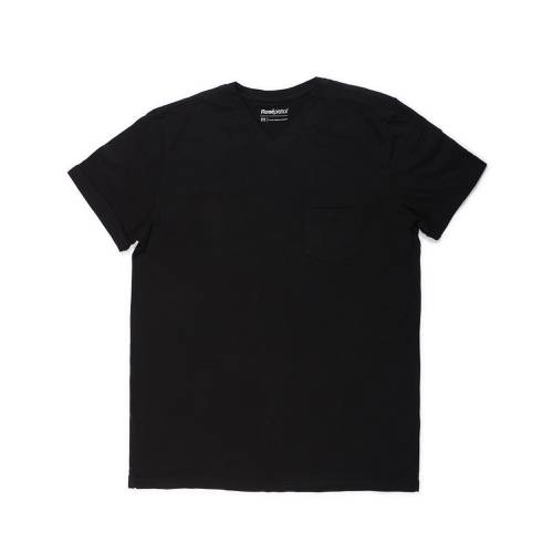 Camiseta Cuello V Rosé Pistol Para Hombre  - Negro
