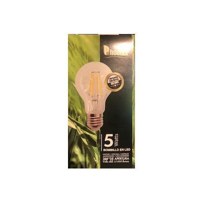 BOMBILLO LED E27 REDONDO (FORMA ARBITRARY LB2065 5W FILAMENTO RECTO)