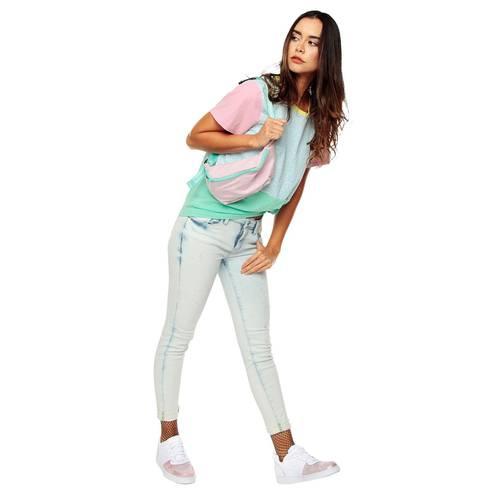 Camiseta Blocks Rosé Pistol Unisex - Azul