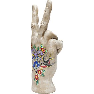 Objeto decorativo Mano Victory Tattoo Flowers 36cm