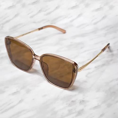 Gafas de sol polarizada con filtro UV 400 Marrón - Dorado Marrón