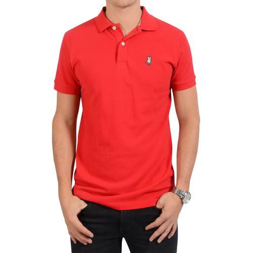Camiseta Tipo Polo Jack Supplies para Hombre - Rojo