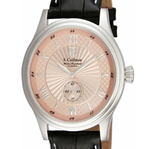 Reloj análogo rosa-negro 0293