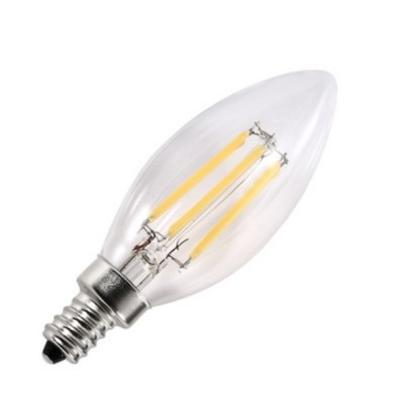 Bombilla de filamento LED Clear Forma C35 - Rosca E14 - Luz Cálida - Dimerizable