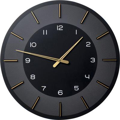 Reloj pared Lio negro Ø60